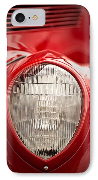 1937 Ford Headlight Detail IPhone Case by  Onyonet  Photo Studios