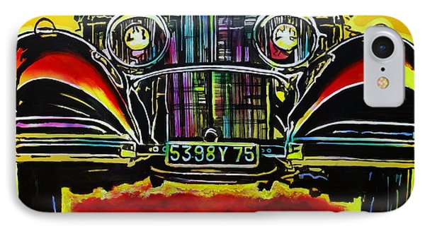 IPhone Case featuring the painting 1937 Mercedes Benz First Wheel Down by Eric Dee