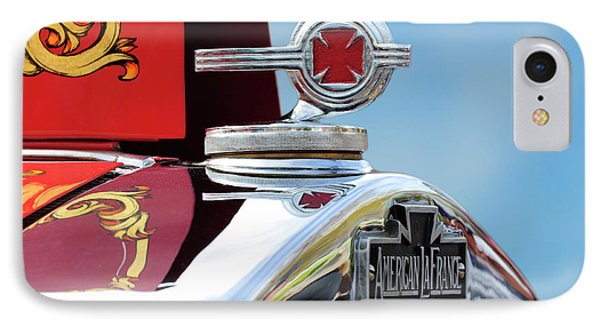 1938 American Lafrance Fire Truck Hood Ornament Phone Case by Jill Reger