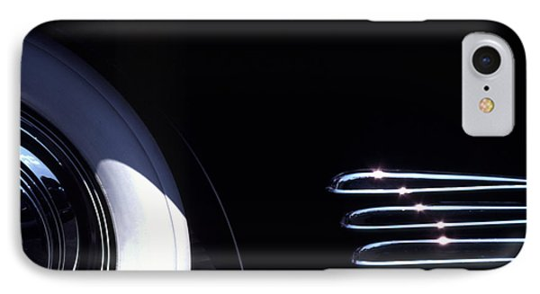 1938 Cadillac Limo With Chrome Strips IPhone Case by Anna Lisa Yoder