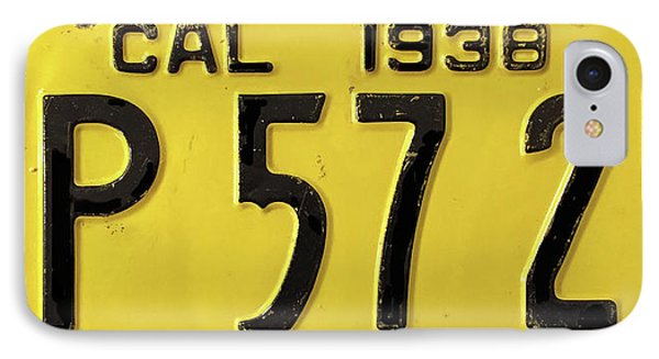 1938 California Vintage License Plate IPhone Case by Design Turnpike