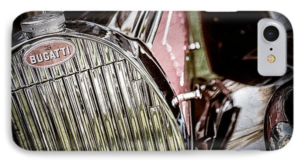 1939 Bugatti T57c Galibier Grille Emblem -0303ac IPhone Case by Jill Reger