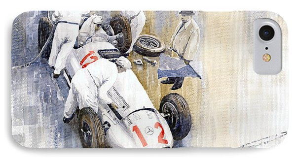 1939 German Gp Mb W154 Rudolf Caracciola Winner IPhone Case by Yuriy  Shevchuk