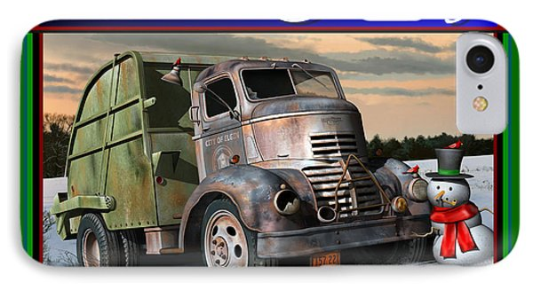 1940 Gmc Christmas Card IPhone Case by Stuart Swartz