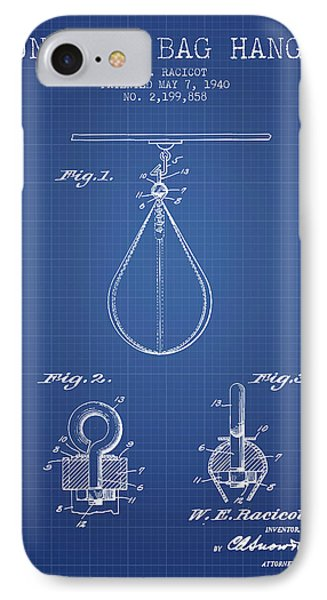 1940 Punching Bag Hanger Patent Spbx13_bp IPhone Case by Aged Pixel