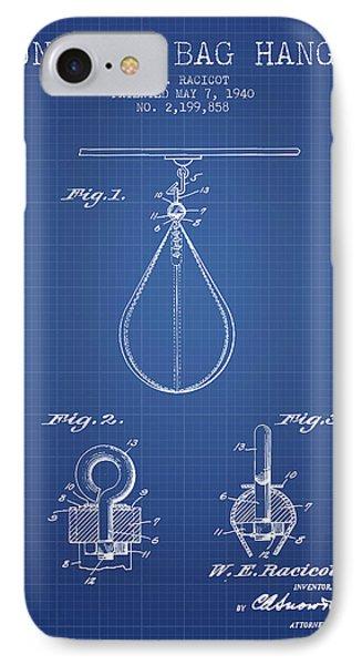 1940 Punching Bag Hanger Patent Spbx13_bp IPhone Case