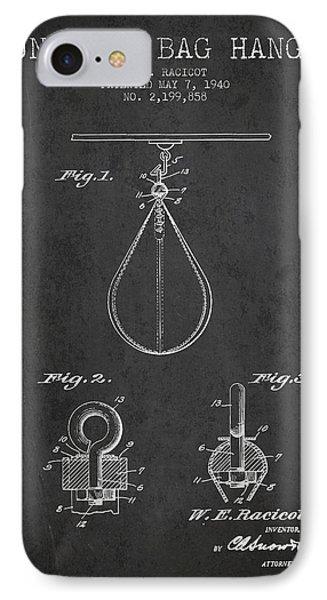 1940 Punching Bag Hanger Patent Spbx13_cg IPhone Case