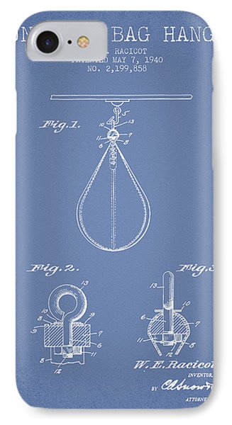 1940 Punching Bag Hanger Patent Spbx13_lb IPhone Case by Aged Pixel