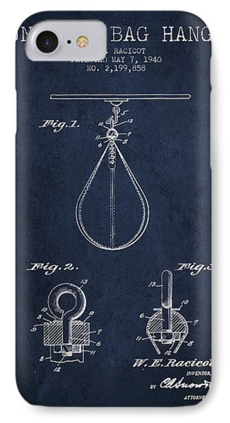 1940 Punching Bag Hanger Patent Spbx13_nb IPhone Case by Aged Pixel