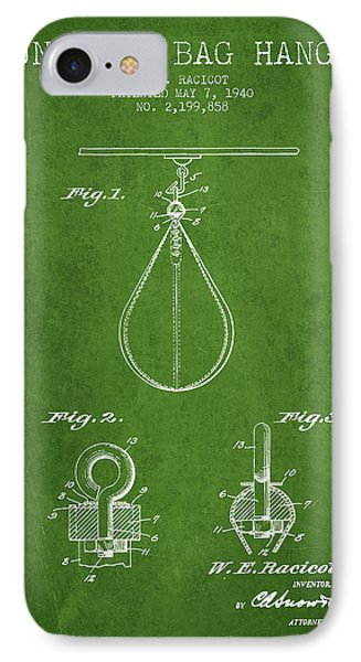1940 Punching Bag Hanger Patent Spbx13_pg IPhone Case by Aged Pixel