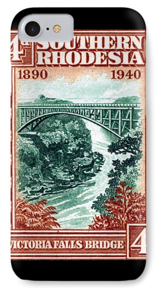 IPhone Case featuring the painting 1940 Southern Rhodesia Victoria Falls Bridge  by Historic Image