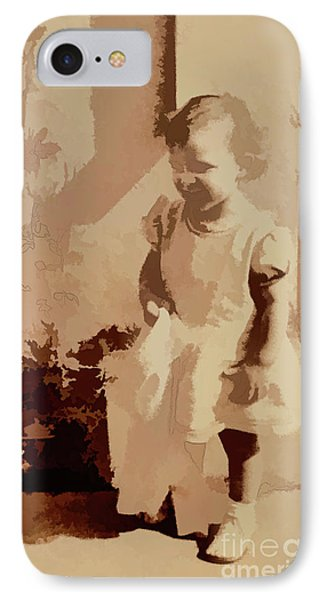 IPhone Case featuring the photograph 1940s Little Girl by Linda Phelps
