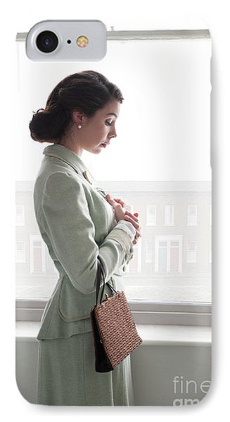 1940s Woman At The Window IPhone Case