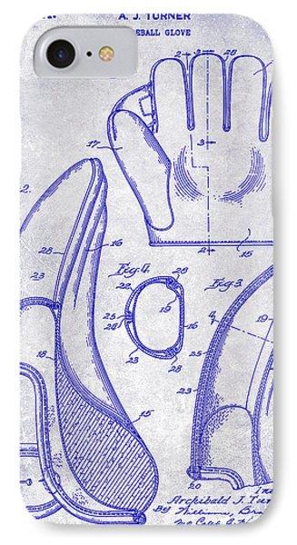 1941 Baseball Glove Patent Blueprint IPhone Case by Jon Neidert