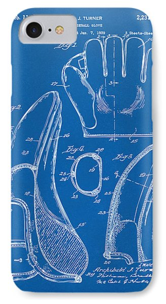 1941 Baseball Glove Patent - Blueprint IPhone Case by Nikki Marie Smith