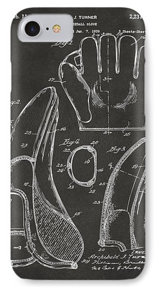 Baseball Gloves iPhone 7 Case - 1941 Baseball Glove Patent - Gray by Nikki Marie Smith