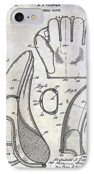 1941 Baseball Glove Patent IPhone Case by Jon Neidert