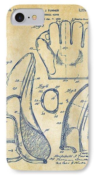 Baseball Gloves iPhone 7 Case - 1941 Baseball Glove Patent - Vintage by Nikki Marie Smith