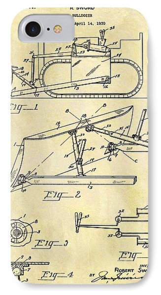 1941 Bulldozer Patent IPhone Case by Dan Sproul
