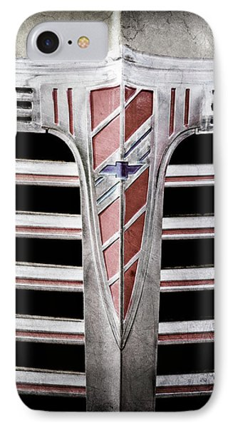 IPhone Case featuring the photograph 1941 Chevrolet Grille Emblem -0288ac by Jill Reger