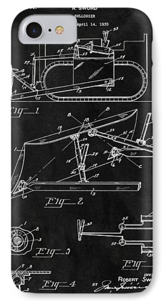 1941 Construction Bulldozer IPhone Case by Dan Sproul