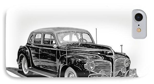 IPhone Case featuring the painting 1941 Dodge Town Sedan by Jack Pumphrey