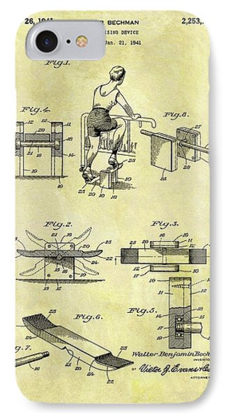 1941 Exercise Machine Patent IPhone Case by Dan Sproul