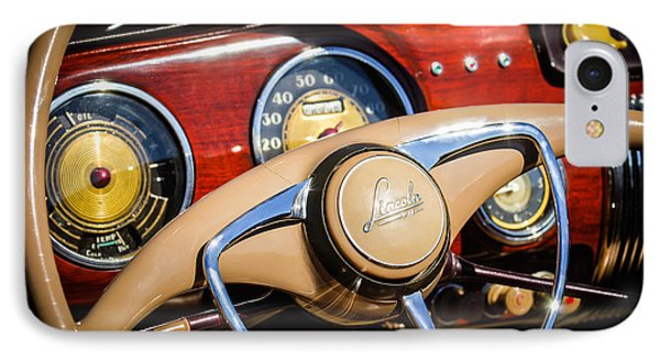 1941 Lincoln Continental Cabriolet V12 Steering Wheel IPhone Case