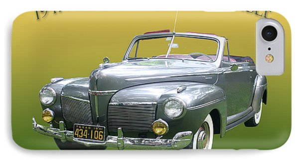 1941 Mercury Eight Convertible IPhone Case by Jack Pumphrey