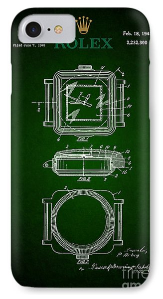 1941 Rolex Watch Patent 3 IPhone Case by Nishanth Gopinathan