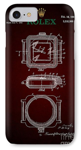 1941 Rolex Watch Patent 4 IPhone Case by Nishanth Gopinathan