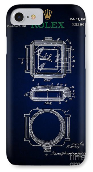 1941 Rolex Watch Patent 5 IPhone Case by Nishanth Gopinathan