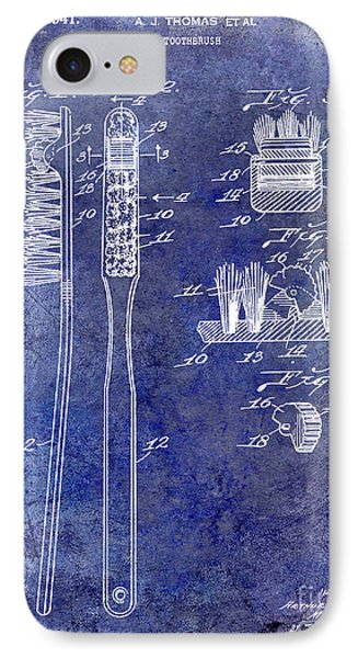 1941 Toothbrush Patent Blue IPhone Case