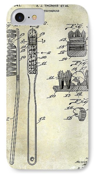 1941 Toothbrush Patent  IPhone Case