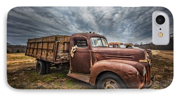 1942 Old Ford Truck IPhone Case by Debra and Dave Vanderlaan