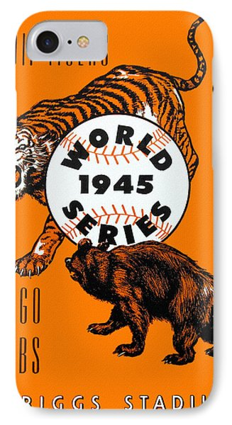 1945 World Series Program Tigers V Cubs IPhone Case by Big 88 Artworks