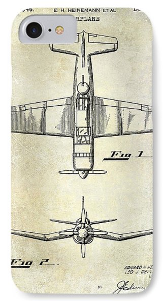 1946 Airplane Patent IPhone Case by Jon Neidert