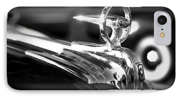 1946 Ford V8 Hood Ornament IPhone Case by Beverly Stapleton