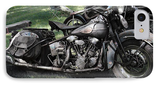 IPhone Case featuring the photograph 1946 Harley Davidson by Kae Cheatham