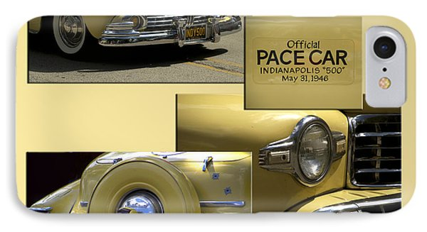 1946 Indy 500 Pace Car Collage IPhone Case by Thomas Woolworth