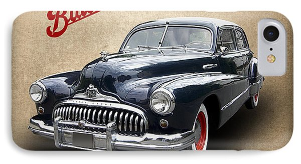1947 Buick 8 IPhone Case by Daniel Hagerman