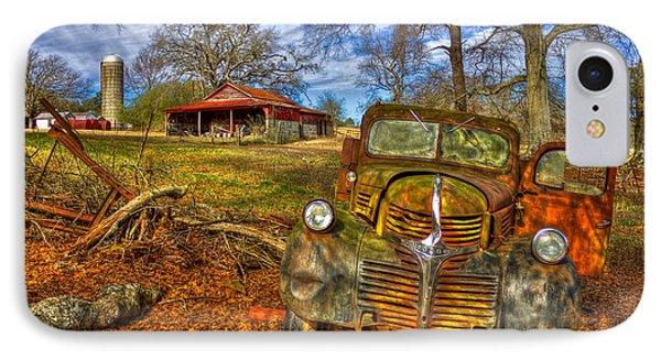 1947 Dodge Dump Truck Country Scene Art IPhone Case by Reid Callaway