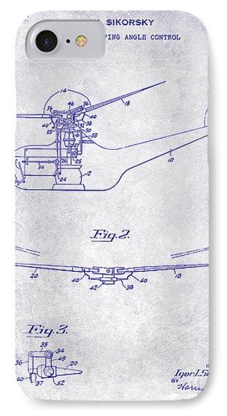 1947 Helicopter Patent Blueprint IPhone 7 Case by Jon Neidert