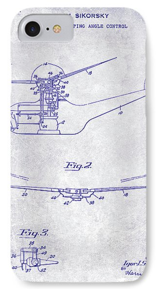 1947 Helicopter Patent Blueprint IPhone Case