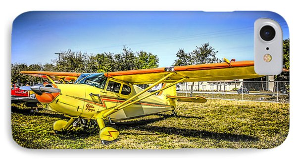 1947 Yellow Stinson IPhone Case by Chris Smith