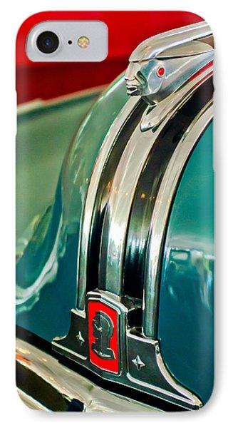 1948 Pontiac Streamliner Woody Wagon Hood Ornament Phone Case by Jill Reger