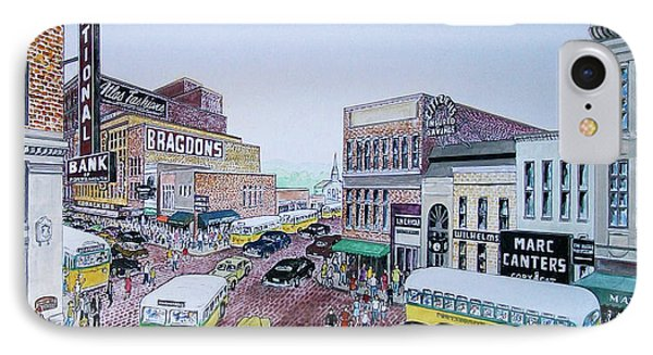 1948 Rush Hour Portsmouth Ohio Phone Case by Frank Hunter