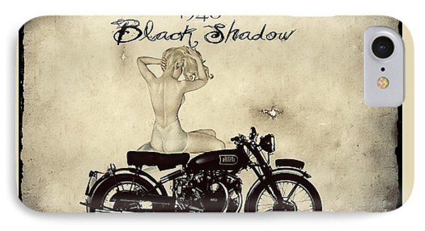 1948 Vincent Black Shadow Phone Case by Cinema Photography
