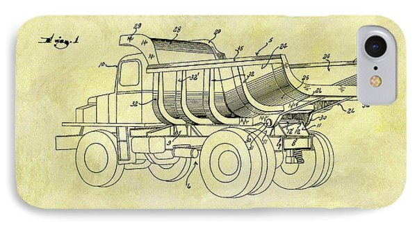 1949 Dump Truck Patent Design IPhone Case by Dan Sproul