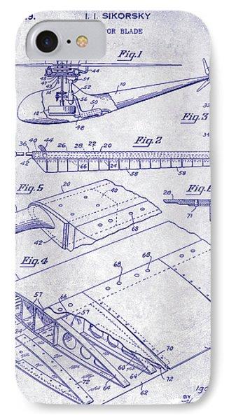 1949 Helicopter Patent Blueprint IPhone Case by Jon Neidert